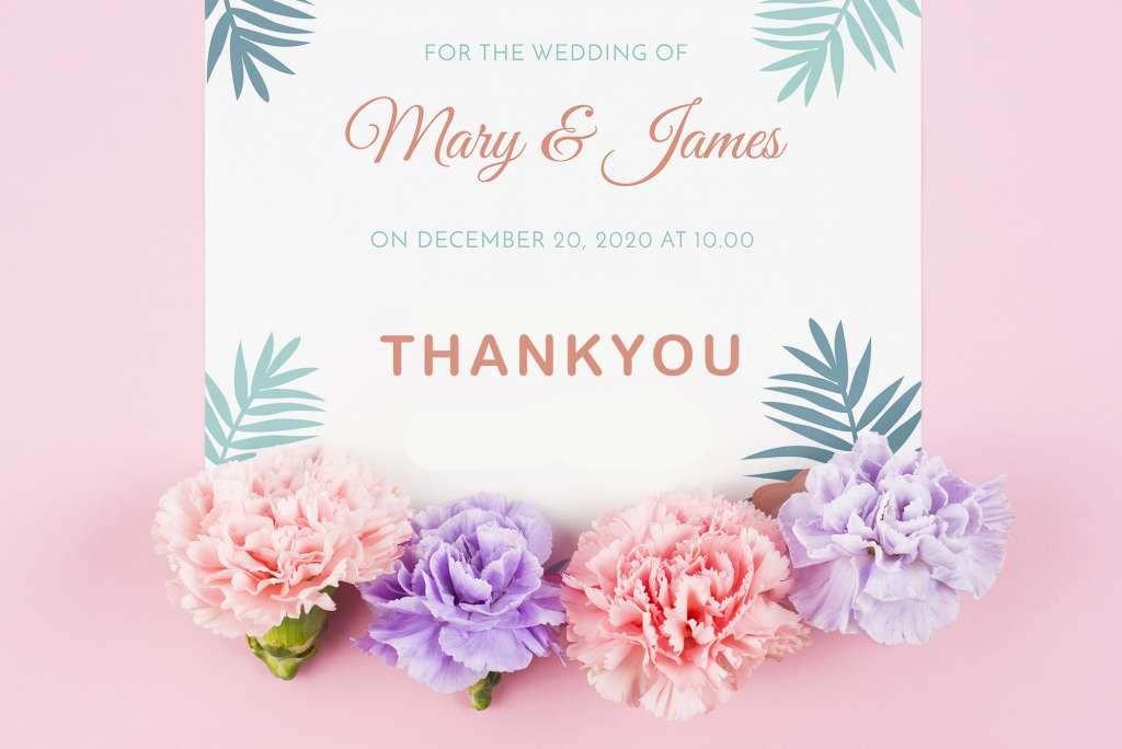 18 Kartu Souvenir Ucapan Terimakasih Pernikahan, Bisa Download