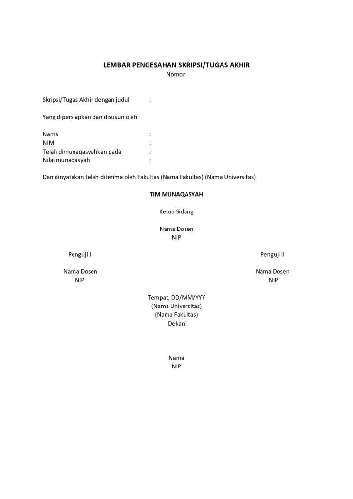 6 Contoh Lembar Pengesahan Proposal Laporan Kegiatan Penelitian Karya Ilmiah Mamikos Info